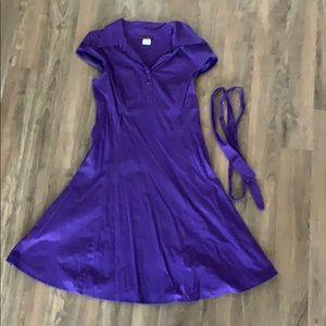 ModCloth Soda Fountain Dress in Grape
